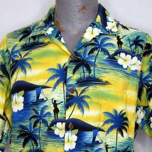 Hilo Hattie Hawaiian Aloha Shirt Size Large Wahine